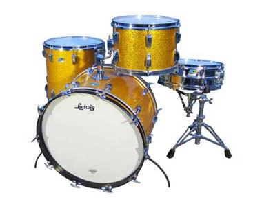 LUDWIG  - VINTAGE '70 ORANGE SPARKLE  - photo n 1