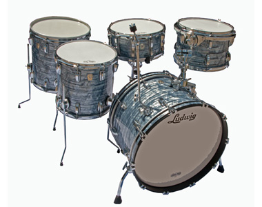 LUDWIG  - CLASSIC MAPLE SKY BLUE PEARL  - photo n 1