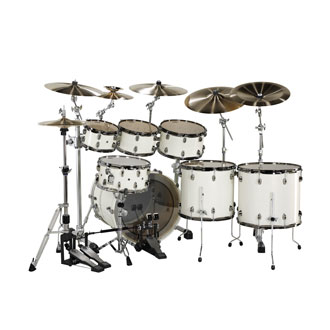 YAMAHA  - OAK CUSTOM X WHITE SPARKLE - photo n 2