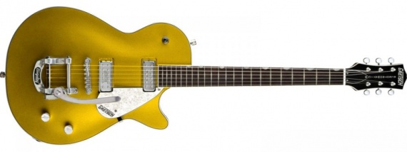 GRETSCH  - PRO JET GOLD SPARKLE W/BIGSBY - photo n 1
