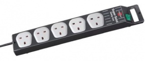 BRENNENSTUHL - SUPER SOLID 5 WAY UK SOCKET