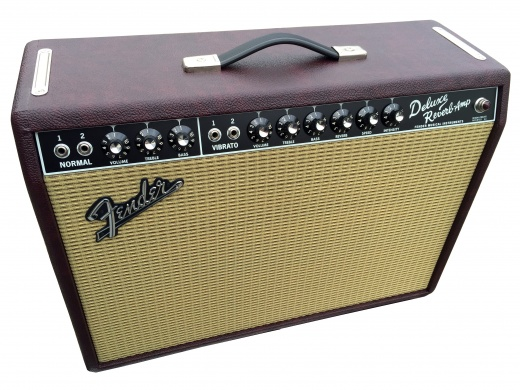 FENDER - '65 DELUXE REVERB Ltd Wine Red  - photo n 1