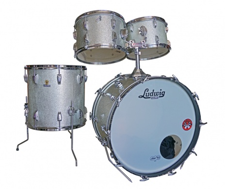 LUDWIG  - VINTAGE '66 SILVER SPARKLE - photo n 1