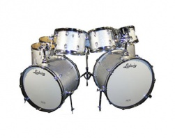 LUDWIG  - CLASSIC MAPLE SILVER SPARKLE