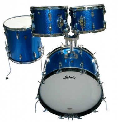 LUDWIG  - VINTAGE '66 BLUE SPARKLE - photo n 1