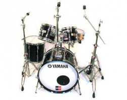 YAMAHA  - RECORDING CUSTOM SOLID BLACK VINTAGE
