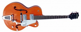 GRETSCH  - HOLLOW BODY ORANGE/W BIGSBY